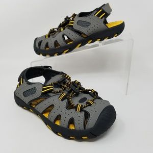 Khombu Kyle Kids Boys Sport Sandals Gray Yellow